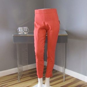 NEW Old Navy Coral Side Zip Cropped Pants Size 2